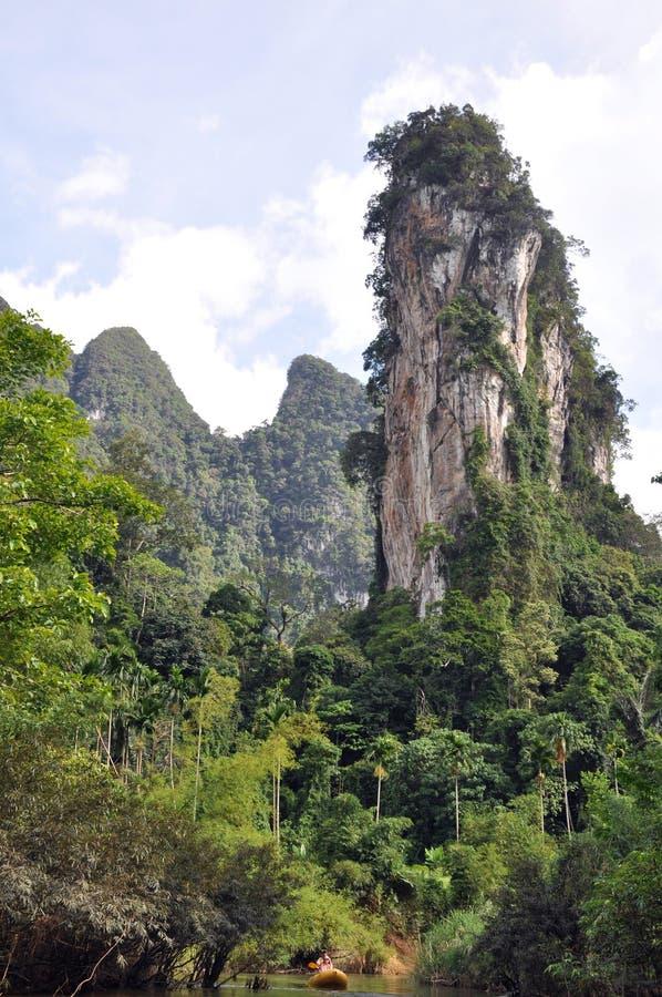 用筏子运送河泰国 免版税库存照片