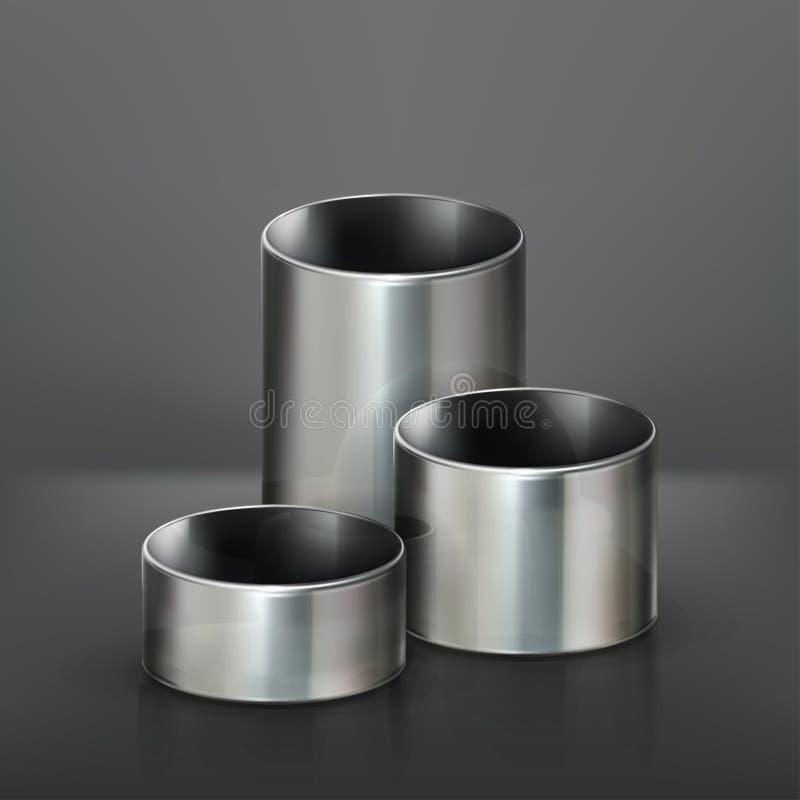 用管道输送钢 向量例证
