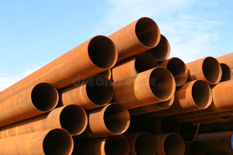 用管道输送钢 免版税图库摄影