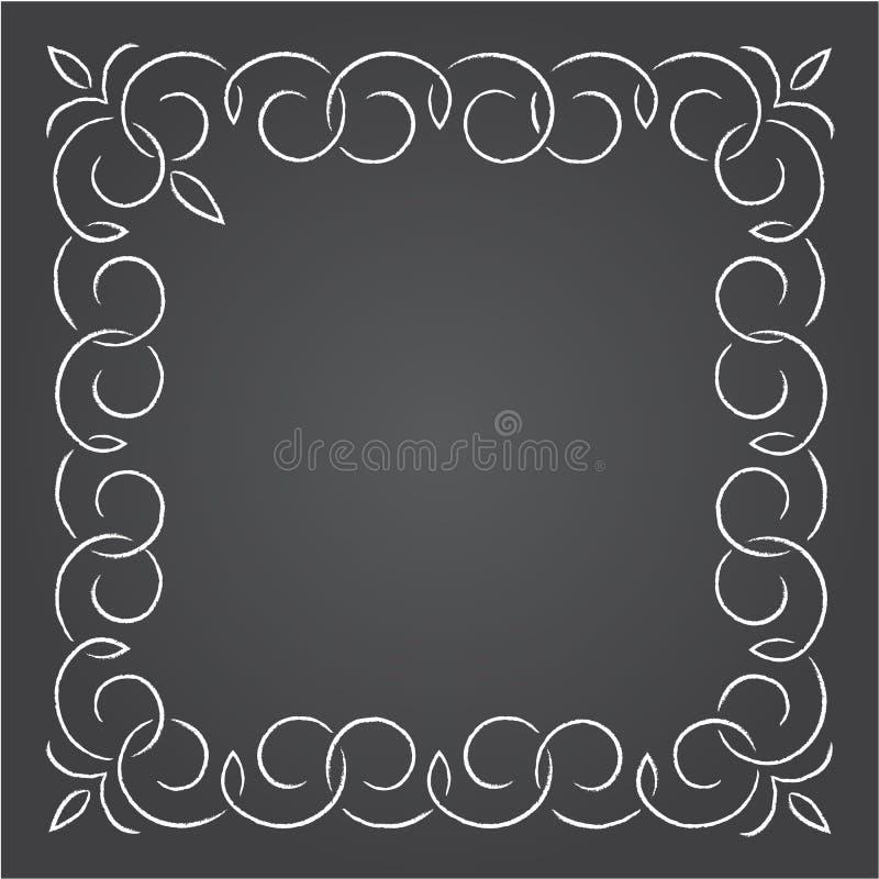 Download 用粉笔写在黑板的减速火箭的图表线元、分切器和组合图案框架, 向量例证 - 插画 包括有 反气旋, 古典: 59112342