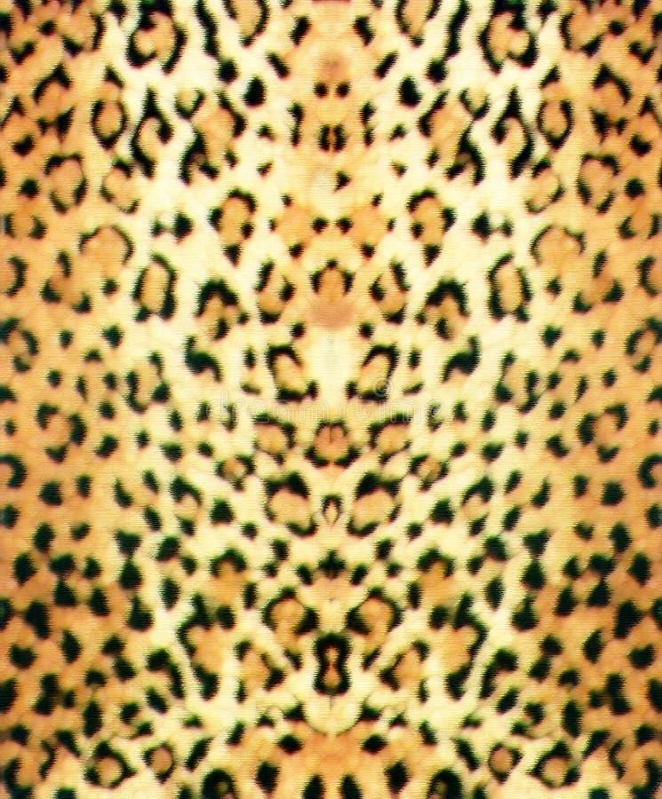 用粉笔写豹子皮肤 库存图片