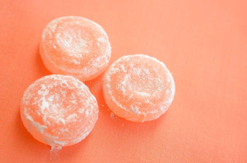 用糖盖的焦糖甜点 免版税库存图片