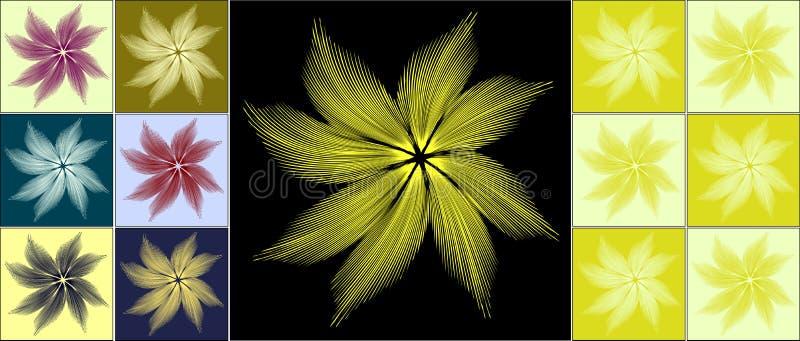 用羽毛装饰花 皇族释放例证