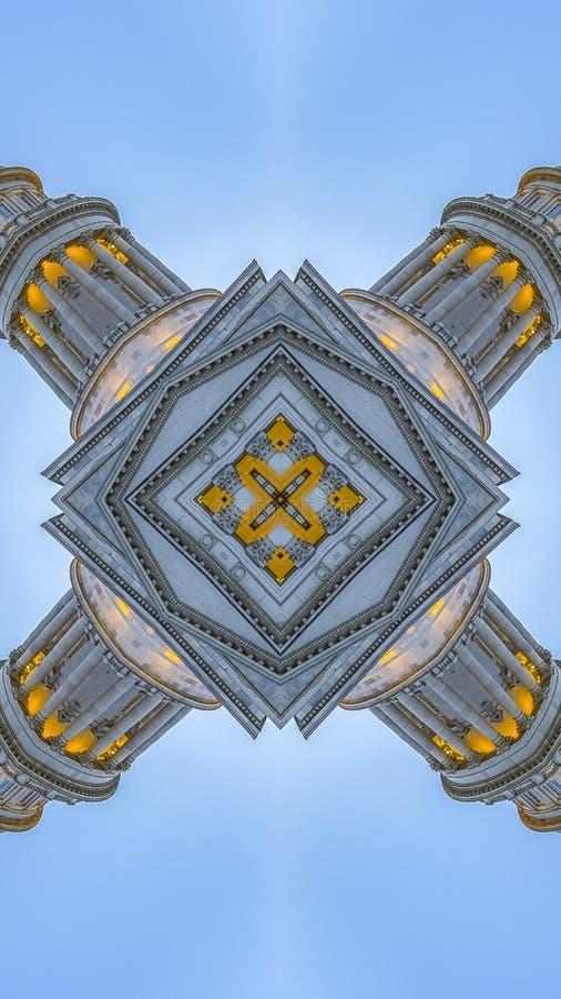 用资本大厦做的垂直的抽象针对性的形状 向量例证