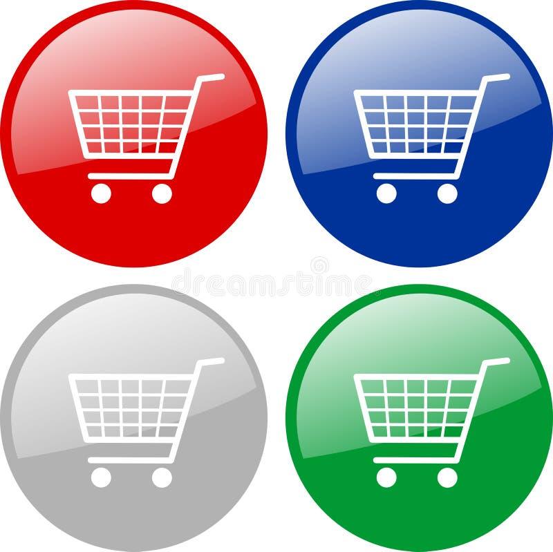 用车运送图标购物 向量例证