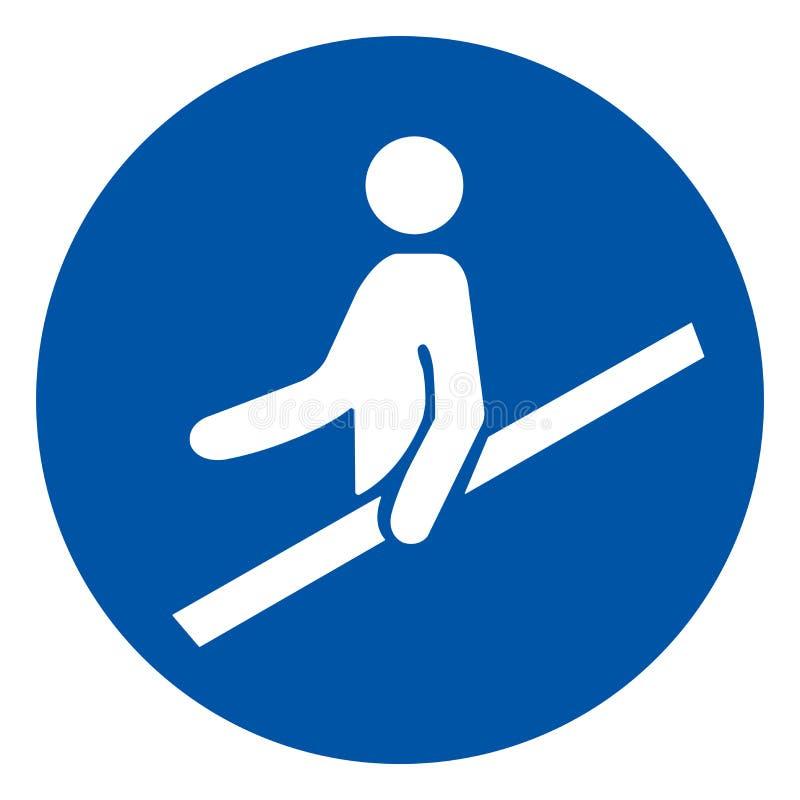 用途扶手栏杆标志标志,传染媒介例证,隔绝在白色背景标签 EPS10 向量例证