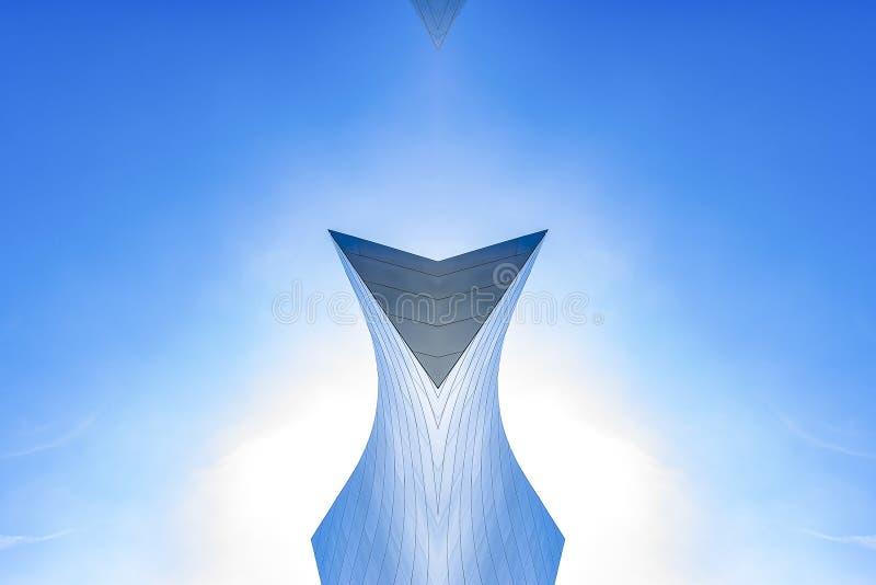 用金属大厦做的有角的形状 向量例证