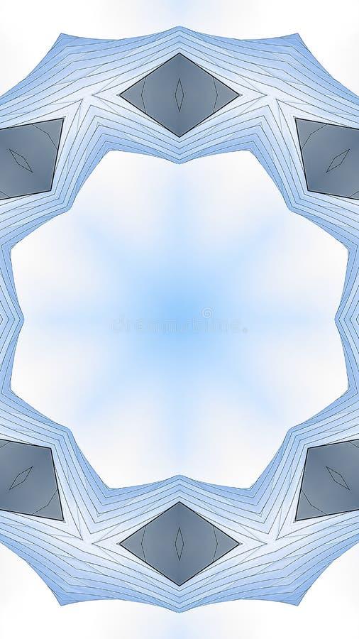 用金属板音乐厅做的垂直的有角圆环 向量例证