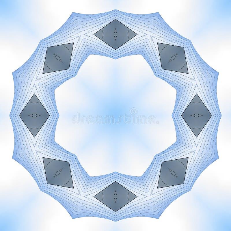 用金属板音乐厅做的有角圆环 库存例证