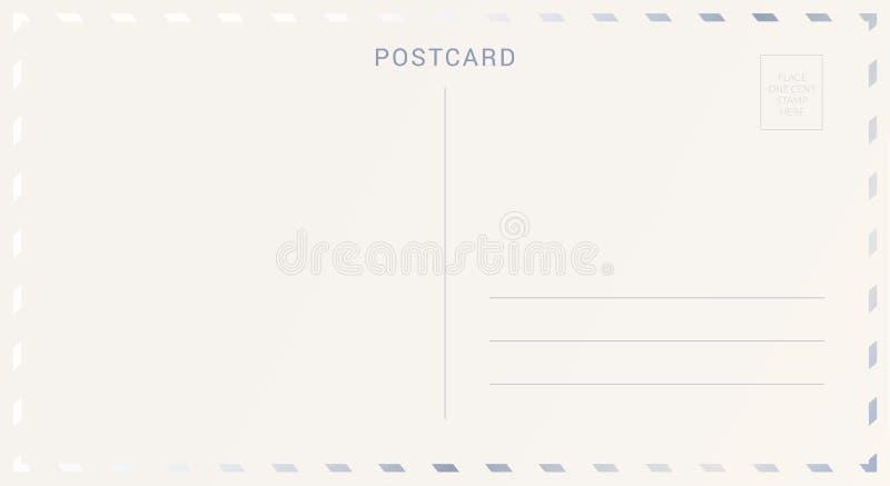 用银箔装饰的明信片后面 向量例证