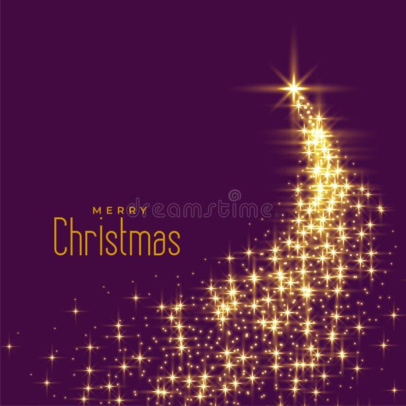 用闪闪发光做的美丽的圣诞树 库存例证
