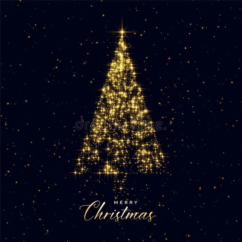 用闪闪发光做的豪华圣诞树 皇族释放例证