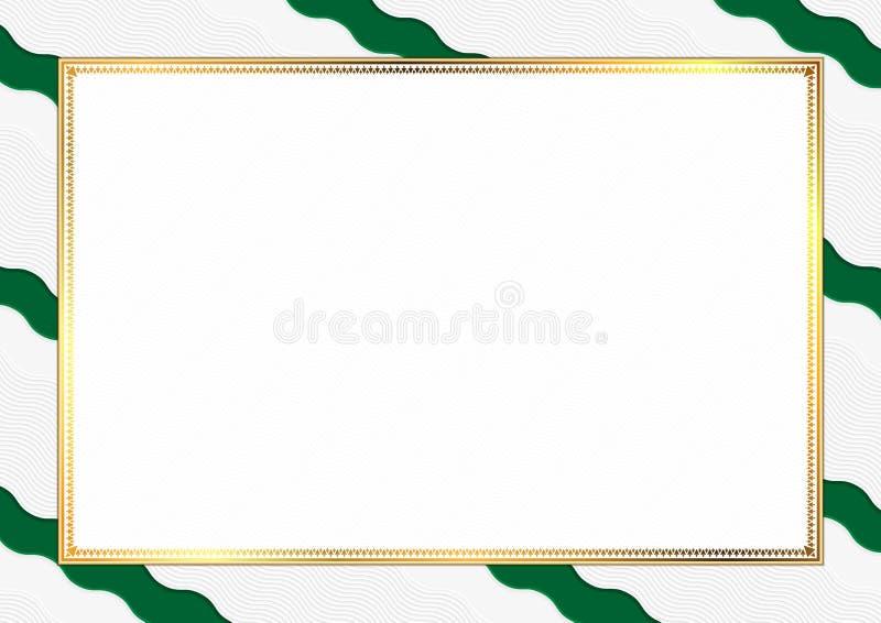 用阿尔及利亚全国颜色做的边界 向量例证