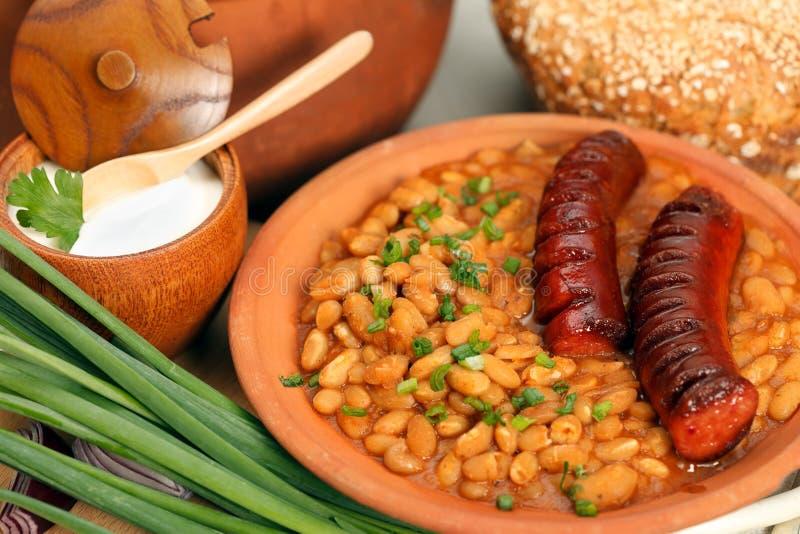 用餐传统罗马尼亚的表 免版税库存照片