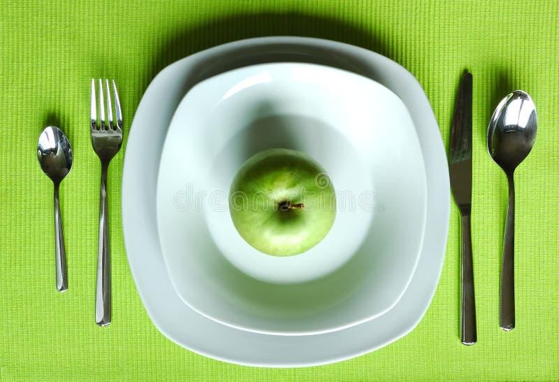 用餐健康设置 库存照片