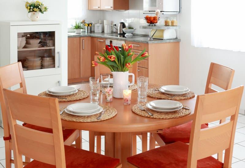 用餐内部厨房空间 库存图片