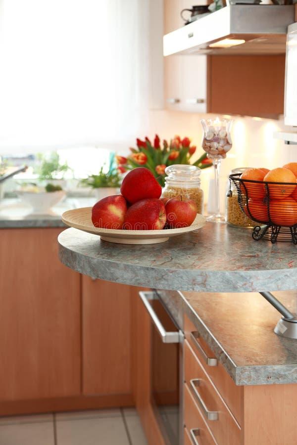 用餐内部厨房空间 免版税库存照片