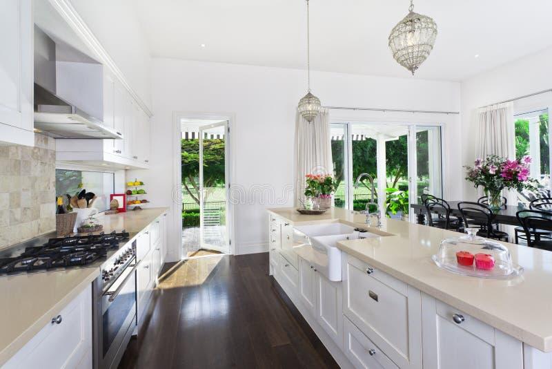 用餐厨房的区 免版税库存图片