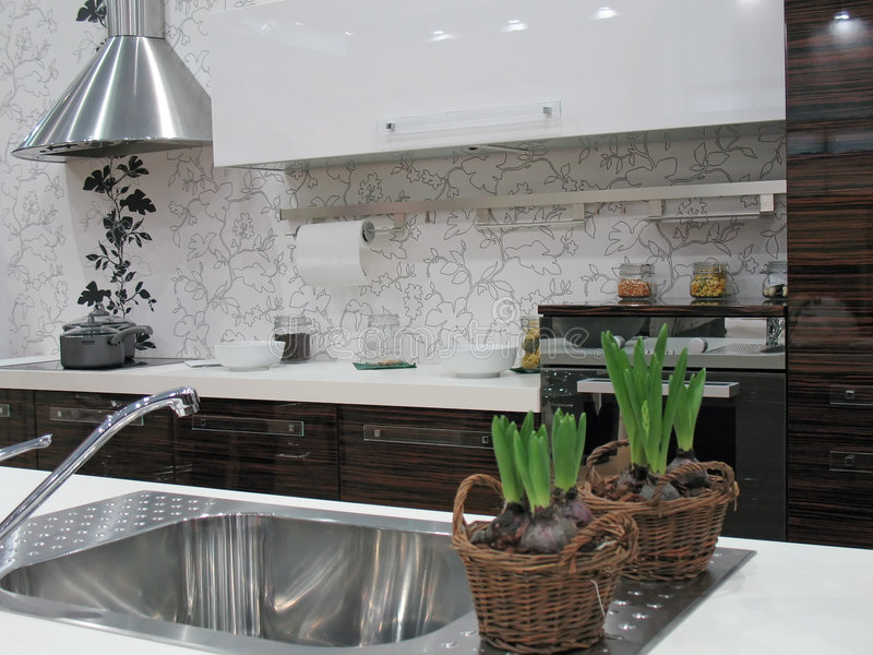 用餐厨房空间 免版税图库摄影