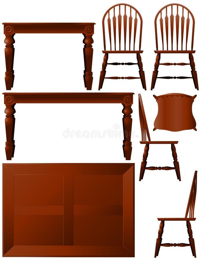 用餐家具空间 皇族释放例证