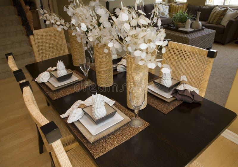 用餐家庭豪华表 免版税图库摄影