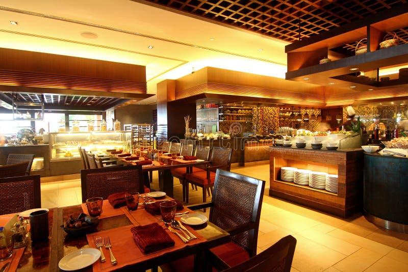 用餐旅馆餐馆的自助餐 库存照片