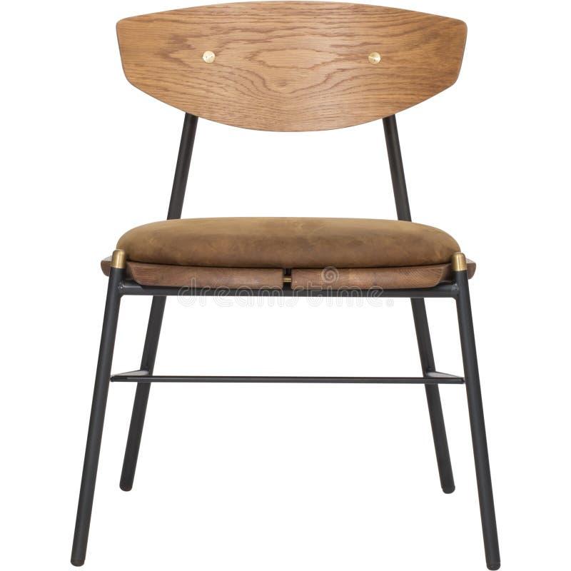 用餐椅子有白色背景,椅子用餐,绅士的布朗用餐-充分地被布置的椅子,冠用餐椅子的Bentwood|西部 免版税库存图片