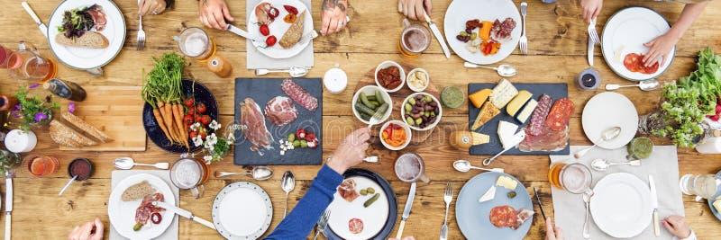 用餐概念的人 免版税库存图片