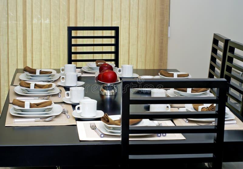 用餐正式空间 免版税图库摄影