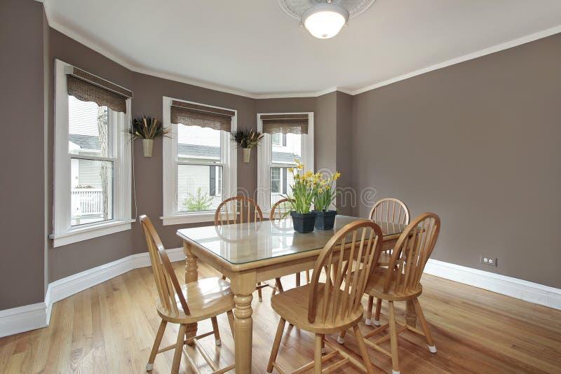用餐淡紫色空间墙壁 免版税图库摄影