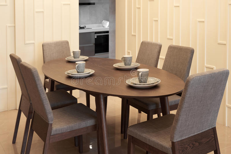 用餐现代空间 免版税库存照片