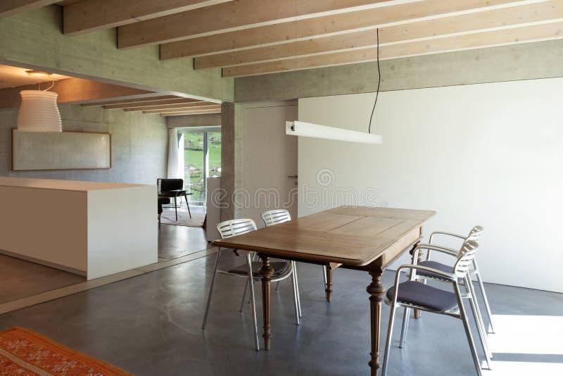 用餐现代空间 库存图片