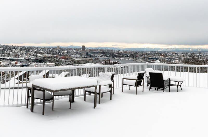 用餐用雪报道的集合 免版税图库摄影