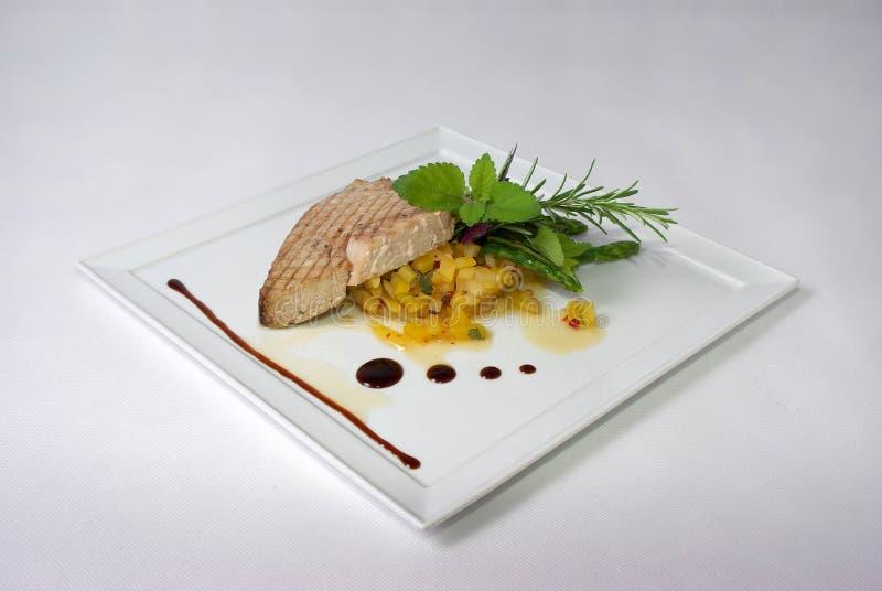 用餐细致的膳食牌照 库存图片
