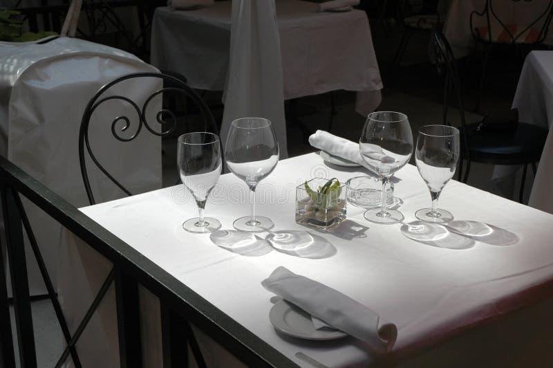用餐露台餐馆酒 库存图片