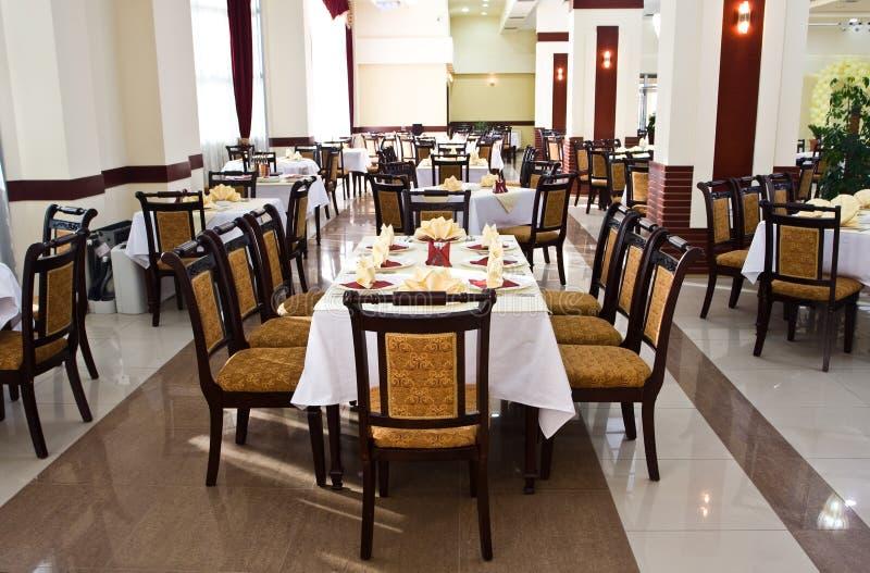 用餐餐馆表 免版税库存图片