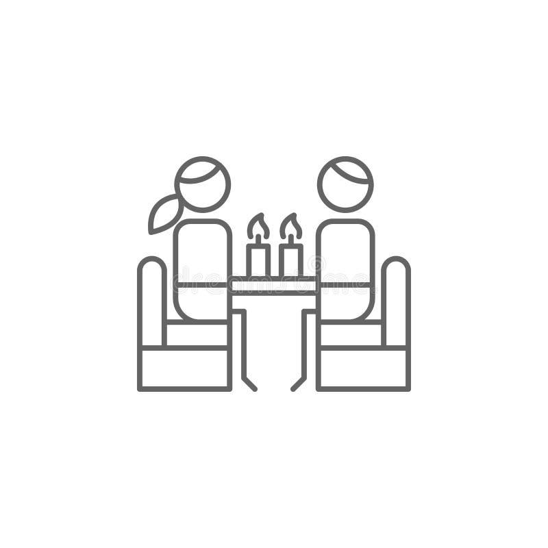 用餐,蜡烛,餐馆象 餐馆象的元素 : 向量例证