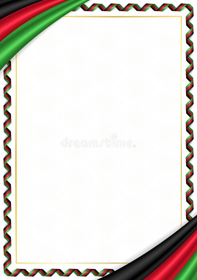 用马拉维全国颜色做的边界 向量例证