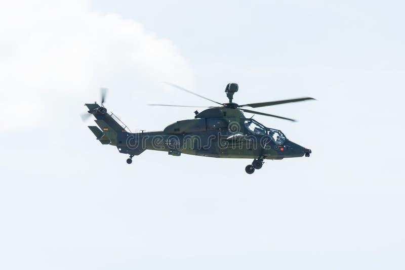 攻击用直升机空中客车直升机老虎 库存图片