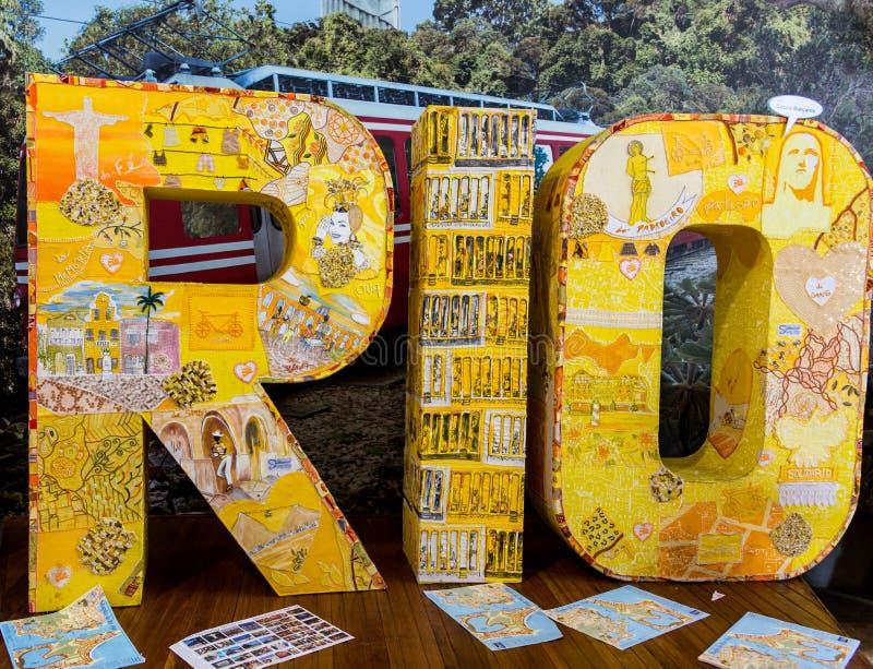 里约热内卢雕塑 图库摄影