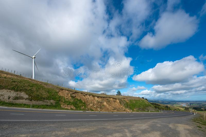 田园诗乡下在新西兰 库存照片