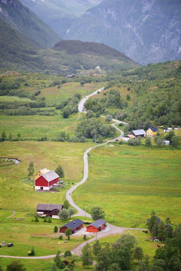 田园诗乡下,挪威 免版税库存图片