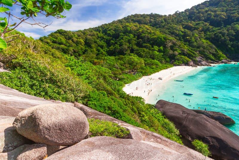 田园诗海滩Similan海岛