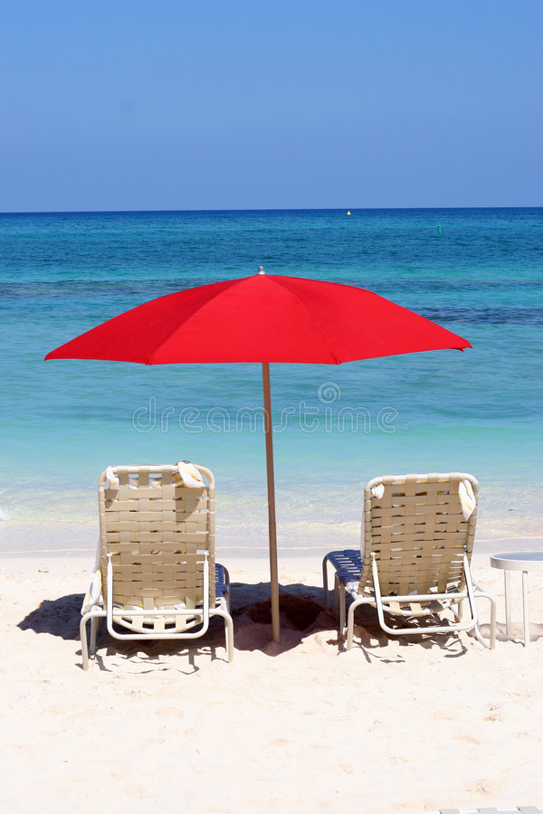 田园诗的海滩 免版税库存图片