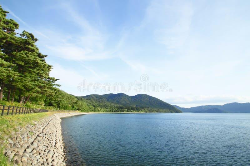 田泽湖在夏天 库存图片