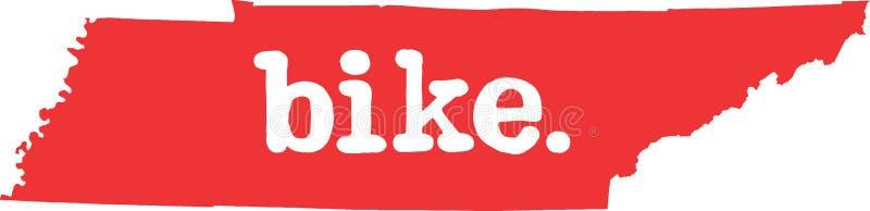 田纳西自行车状态向量标志 库存例证