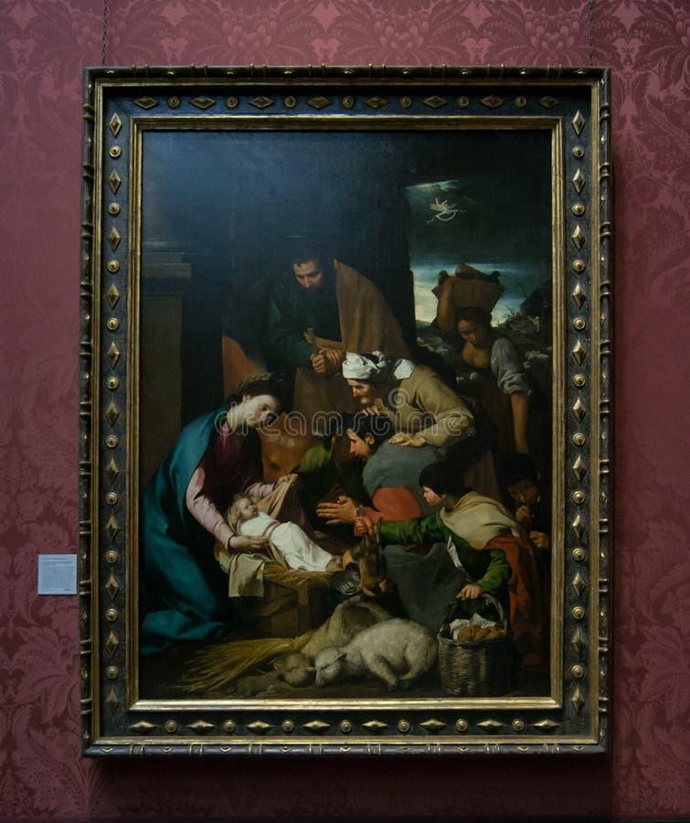 由一位未知的艺术家的一张绘画国家肖像馆的在伦敦 免版税库存图片