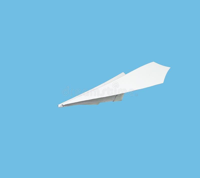 由与旗子的纸做的飞机 皇族释放例证