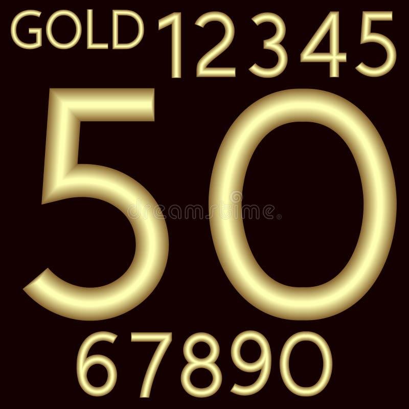 由与表面无光泽的表面的金导线做完全数集 字体是由柔软光滑的黑暗的绯红色背景 编号 皇族释放例证