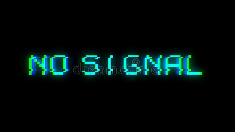 由于坏信号的没有信号文本小故障 库存例证